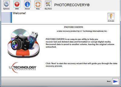 PHOTORECOVERY Professional 2019 for Windows Screenshot
