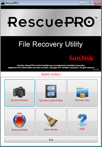 RescuePRO for Windows full screenshot