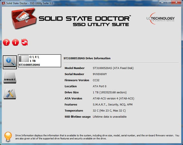 Solid State Doctor 3.1.4.2 screenshot