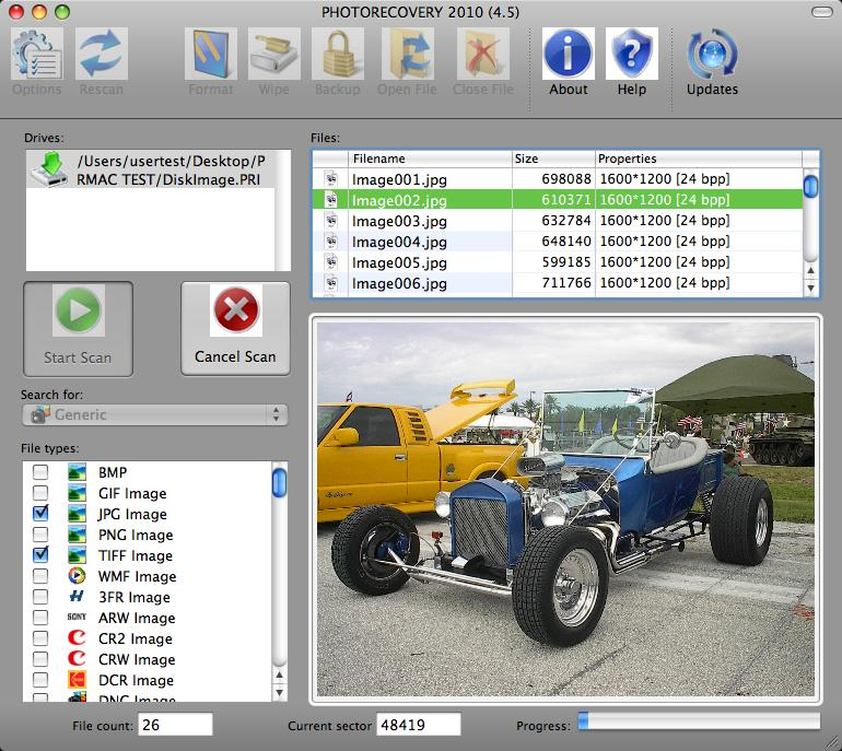 PHOTORECOVERY 2014 for Mac Screenshot